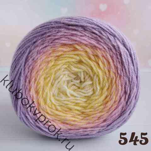 YARNART FLOWERS MERINO 545, Бежевый/желтый/фиолетовый