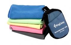 Полотенце быстросохнущее Kingcamp HikerMicroFibre Towel 60x120см синий - 2