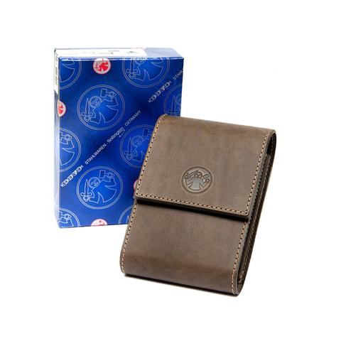 Набор бритвенный Dovo: 5 предметов, цвет коричневый, кожаный футляр
