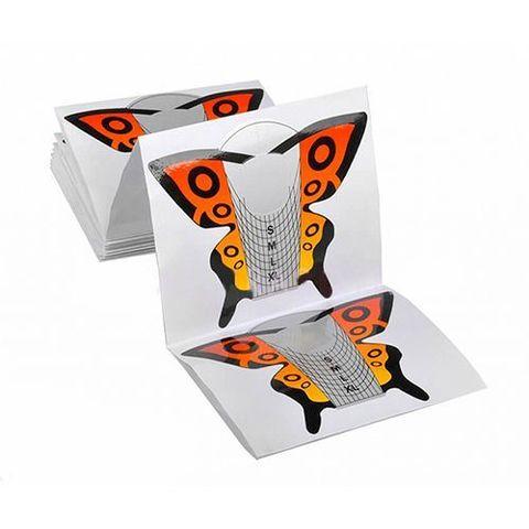 Форма для моделирования бумажные бабочка оранжевая 25/уп