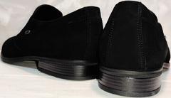 Модные замшевые туфли черные мужские Ikoc 3410-7 Black Suede.