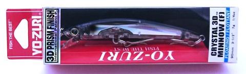 Воблер Yo-Zuri Crystal 3D Minnow 90 F / F1145-B