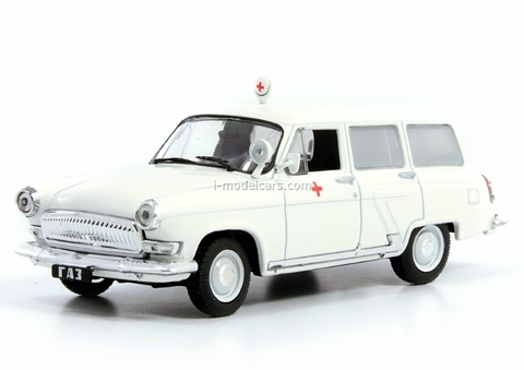 GAZ-22B Volga Ambulance USSR 1:43 DeAgostini Service Vehicle #65