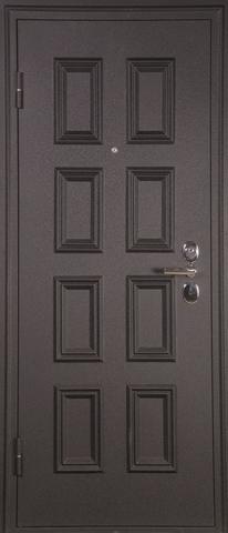 Дверь входная L-4 стальная, дуб седой, 2 замка, фабрика Арсенал