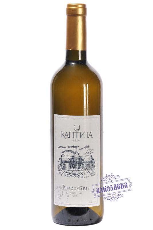 Вино Кантина Пино-Гри белое сухое 2014г