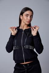 Спортивный костюм женский с капюшоном черный магазин
