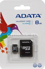 Карта памяти ADATA microSDHC 8Gb Class 10