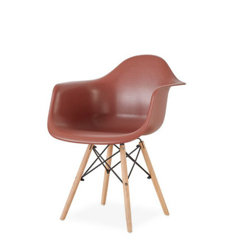Стул-кресло DAW Eames by Vitra (коричневый)