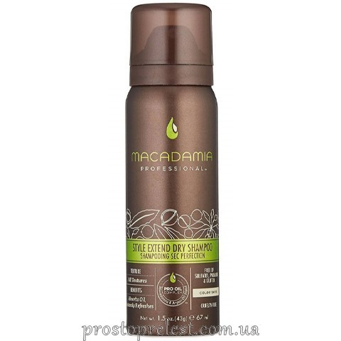 Macadamia Style Extend Dry Shampoo - Сухий шампунь-аерозоль