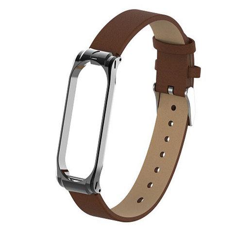 Ремешок кожаный для фитнес браслета Mi Band 4