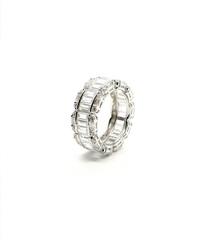 19236 -  Серебряное кольцо-дорожка с багетными цирконами lux