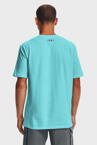 Мужская голубая футболка UA TEAM ISSUE WORDMARK SS Under Armour