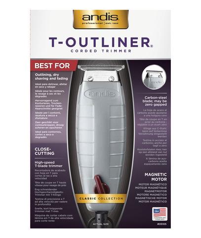 Триммер окантовочный Andis G-I T-Outliner, 0,1 мм, сетевой, 12 Вт, белый