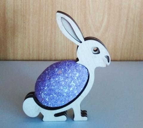 Заяц подставка на одно яйцо