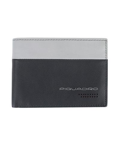 Кошелек Piquadro Urban, серый/черный, 11x9x1,5 см