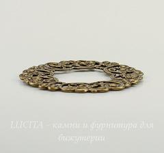 Винтажный декоративный элемент - рамка 44 мм (оксид латуни)