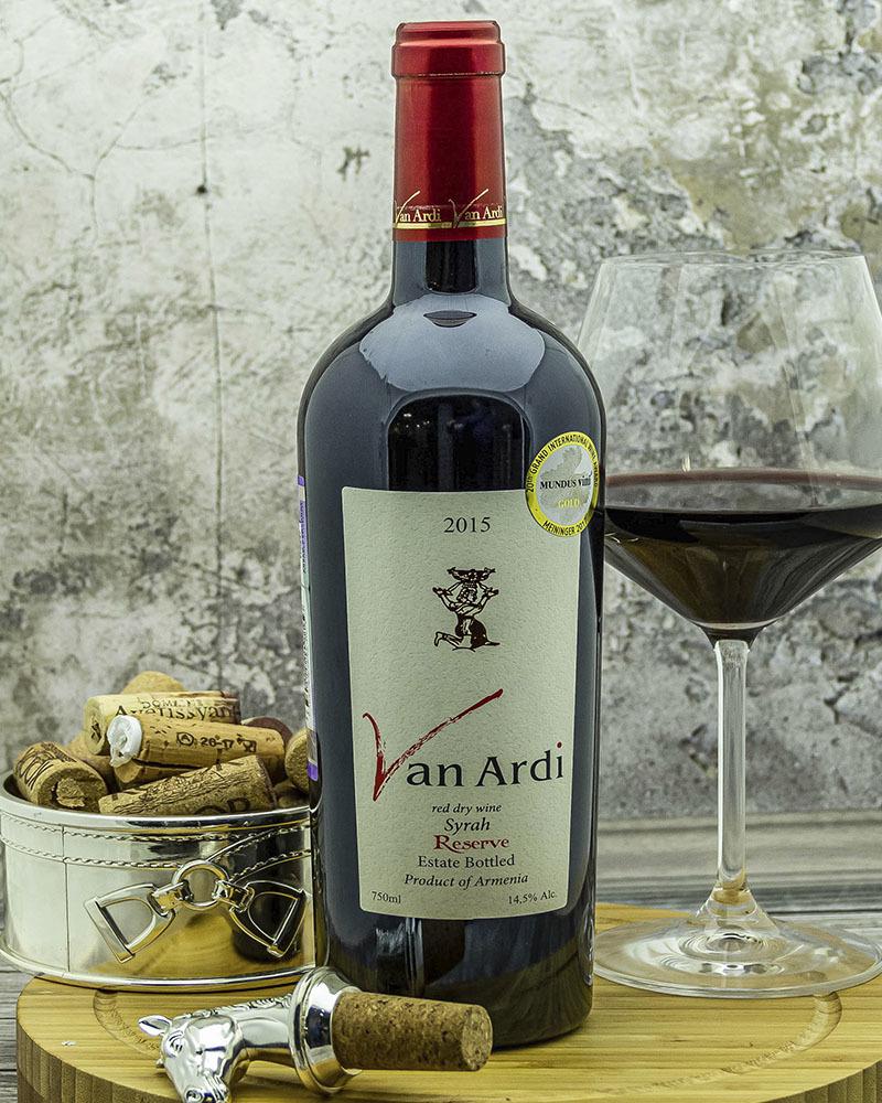 Вино Van Ardi Красное Cухое Резервное 2015 г.у. 14,5% 0,75 л.