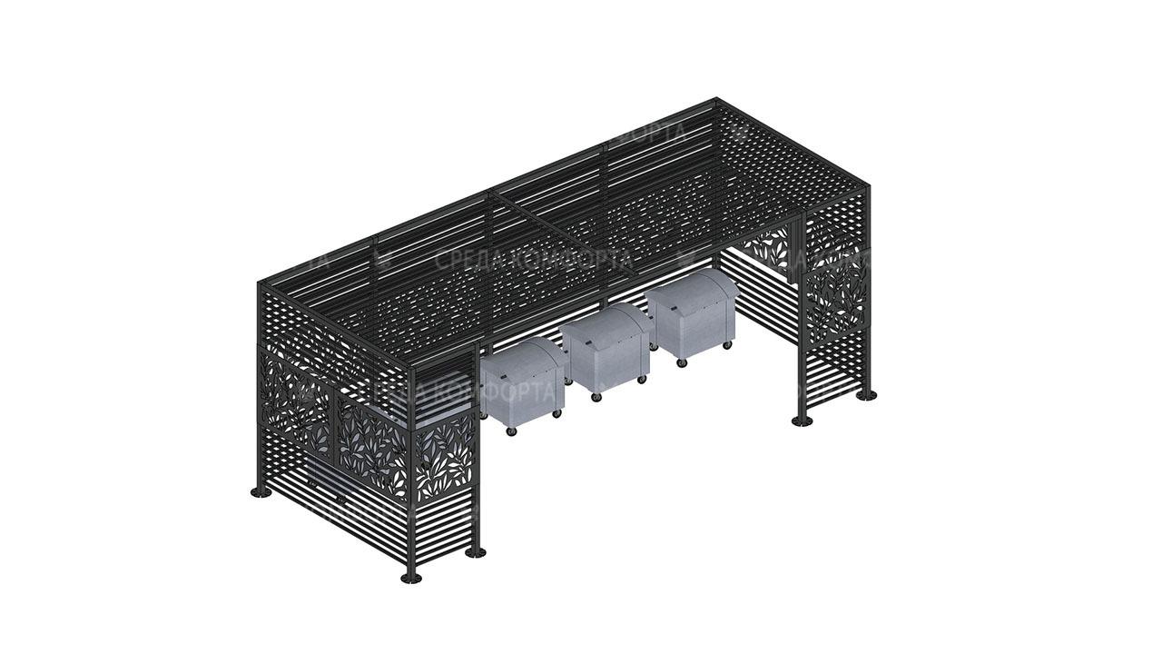 Навес для мусорных контейнеров NVS0016