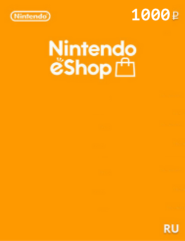 Пополнение бумажника на 1000 рублей (цифровая версия, Nintendo eShop Store Россия/Европа)