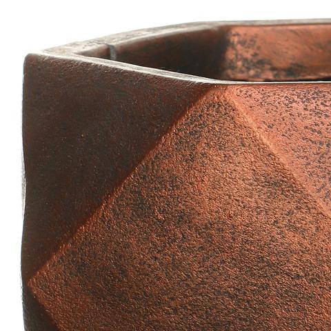 DBOWL30-BNZ Кашпо Геометри Чаша, файберстоун,бронза , W30 L30 H15 cm