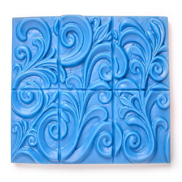 Пластиковая форма Орнамент на 6 кусков мыла