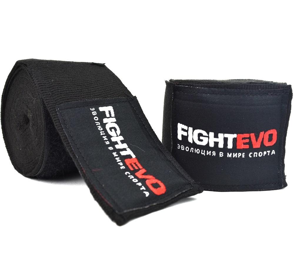 Капы и бинты Бинты для бокса FightEvo 5m Black 1.jpg