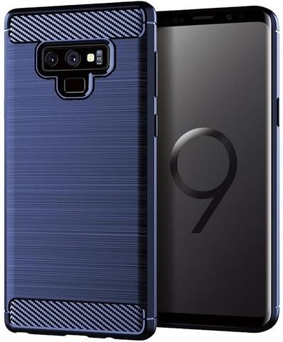 Чехол для Samsung Galaxy Note 9 цвет Blue (синий), серия Carbon от Caseport
