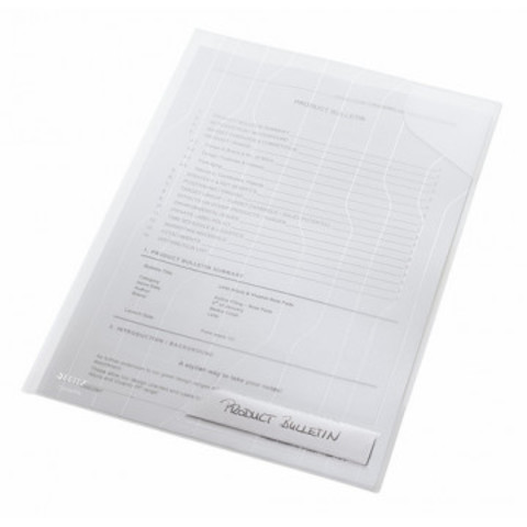 Папка-уголок Leitz CombiFile A4 прозрачная 200 мкм (3 штуки в упаковке)