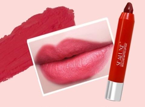 SEALUXE Матовая губная помада-карандаш ( розовый цвет)