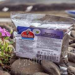 Картофель с грибами и луком 'Гала-Гала' на природе