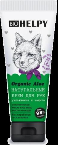 Крем для рук Biohelpy Organic Aloe Увлажнение и защита, объем: 100 мл