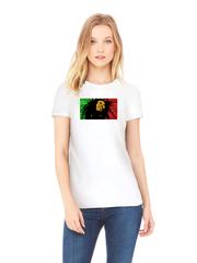Футболка с принтом Боб Марли (Bob Marley) белого w0011