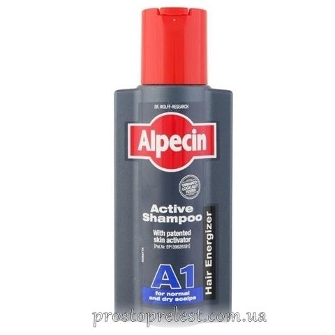 Alpecin A1 Aktiv Shampoo - Шампунь против выпадения волос для нормальной и сухой кожи головы