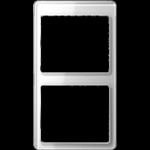 Рамка на 2 поста, вертикальная. Цвет Серебро. JUNG SL. SL582SI