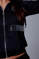 Спортивный костюм женский с капюшоном черный надя