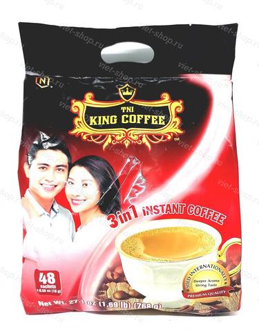 Кофе растворимый King Coffee, 3 в 1, 48 пак.