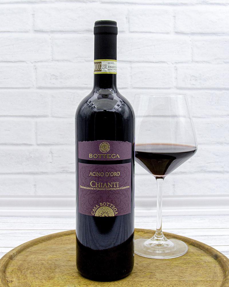 Вино Красное Сухое Bottega Ачино Д'Оро Кьянти 12,5%, 0,75 л.
