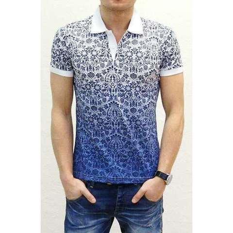 Мужская футболка поло синяя ETRO