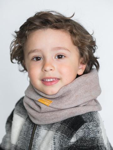 Детский снуд-горловинка из кашемира бежевый