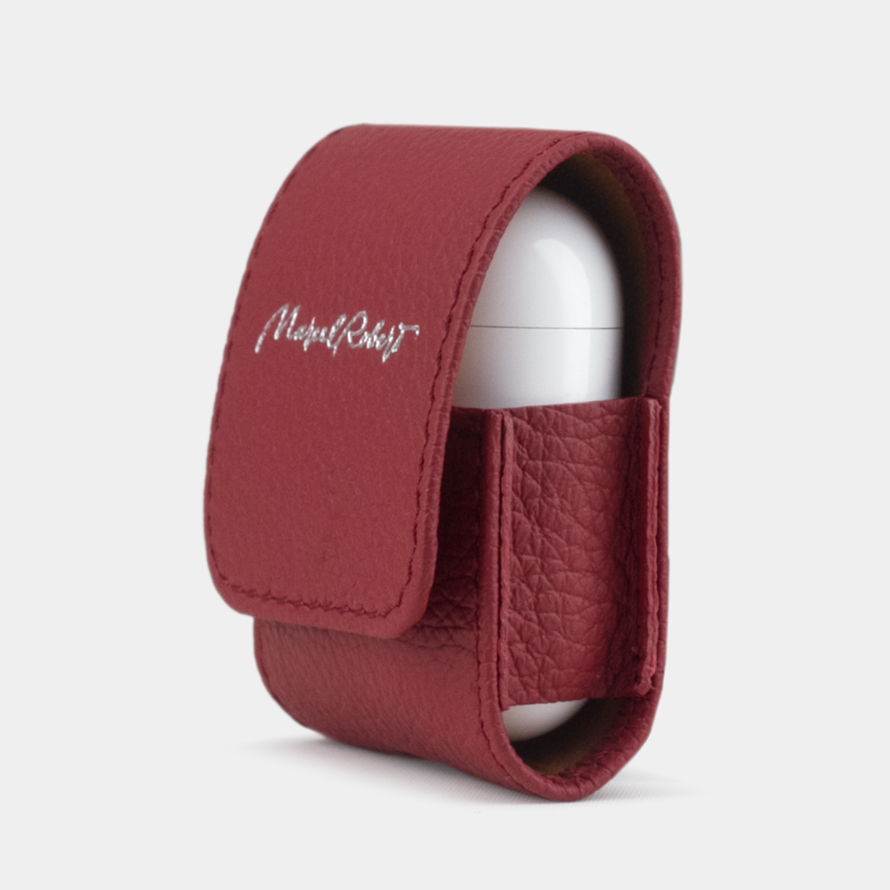 AirPods leather case  - CHERRY