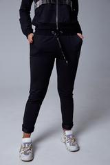 Спортивный костюм женский с капюшоном черный розница