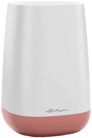 13893 Ваза Юла Флауер Белый/ярко-розовый
