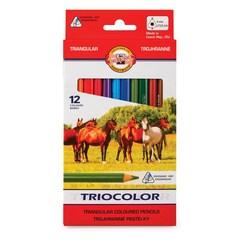 Карандаши цветные TRIOCOLOR 3142, 12 цветов