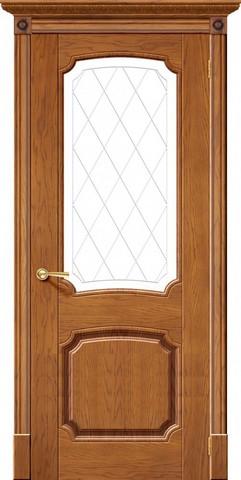 Дверь Халес Мадрид (медовый дуб, остекленная, массив хвойных пород)