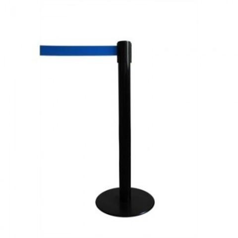 Стойка ограждения напольная Барьер с синей вытяжной лентой (200 см)
