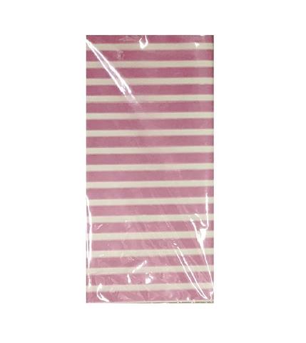 Бумага тишью Полоска, 10 шт., 50x66 см, цвет: светло-розовый