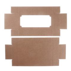 Коробка с окном прямоугольная, однотонная, 24*11*4,5 см, 1 шт.