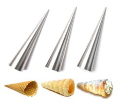 Конусы для выпечки рожков и трубочек 8 шт, l=14 см d=2.5 см