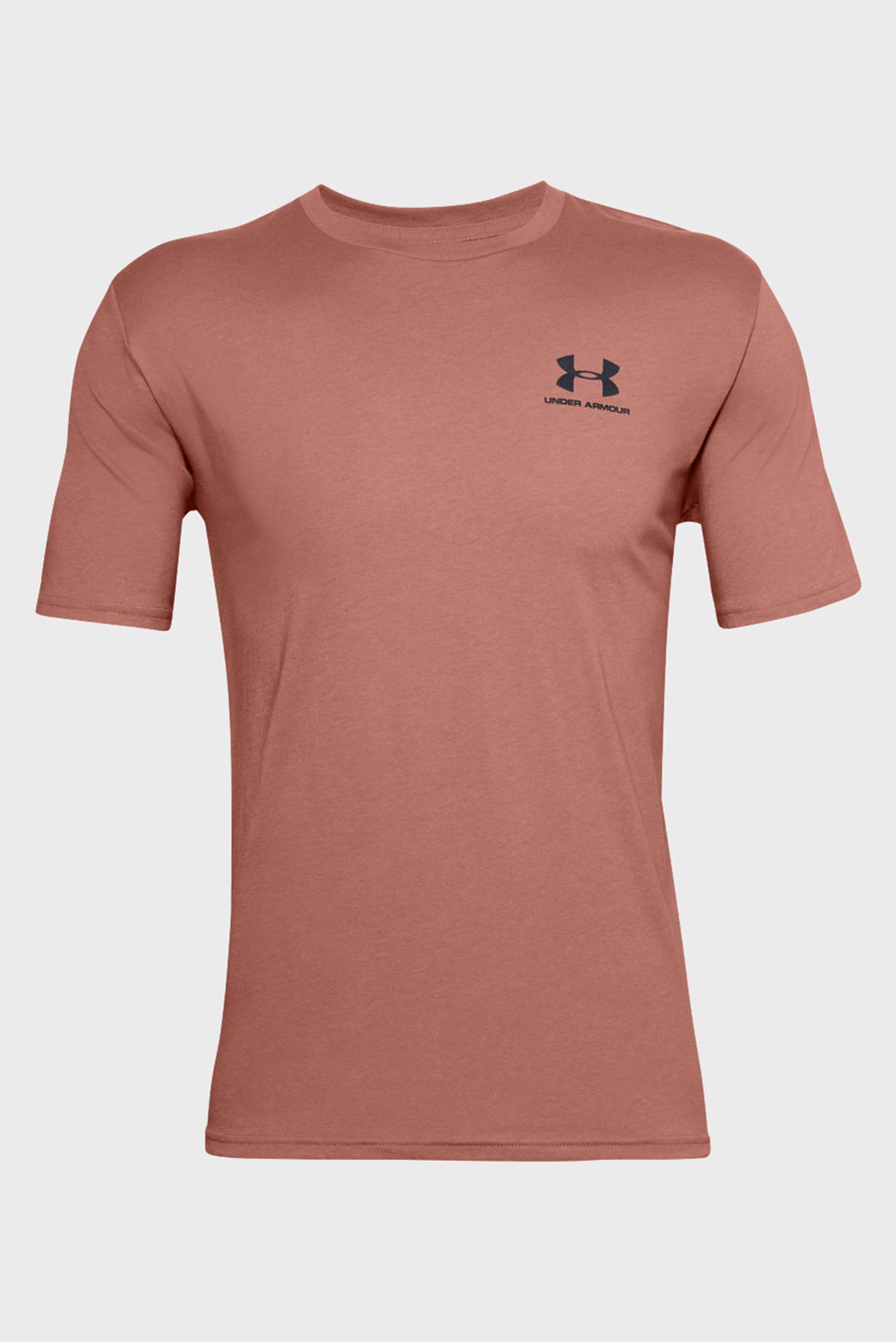 Мужская розовая футболка SPORTSTYLE LEFT CHEST SS-BRN Under Armour
