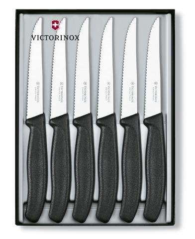 Набор Victorinox, ножи для стейков, 6 шт, черный